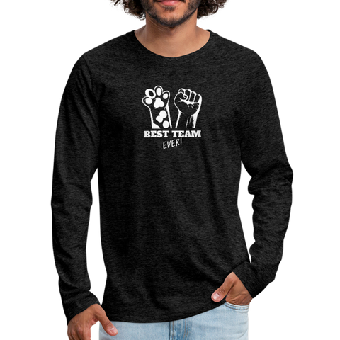 Image of Best team Ever Men's Premium Long Sleeve T-Shirt - charcoal gray