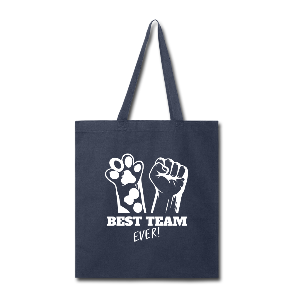 Best Team Ever Tote Bag - navy