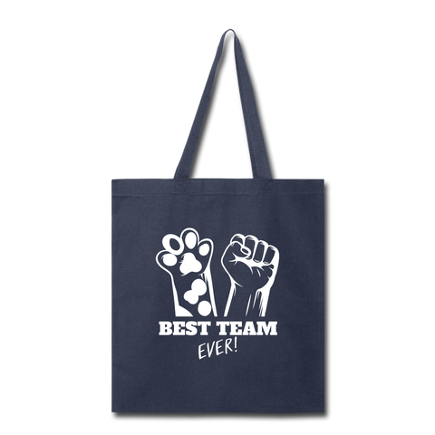 Image of Best Team Ever Tote Bag - navy