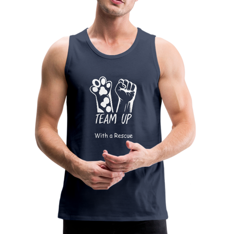 Team Up with a Rescue - Men's Premium Tank - navy
