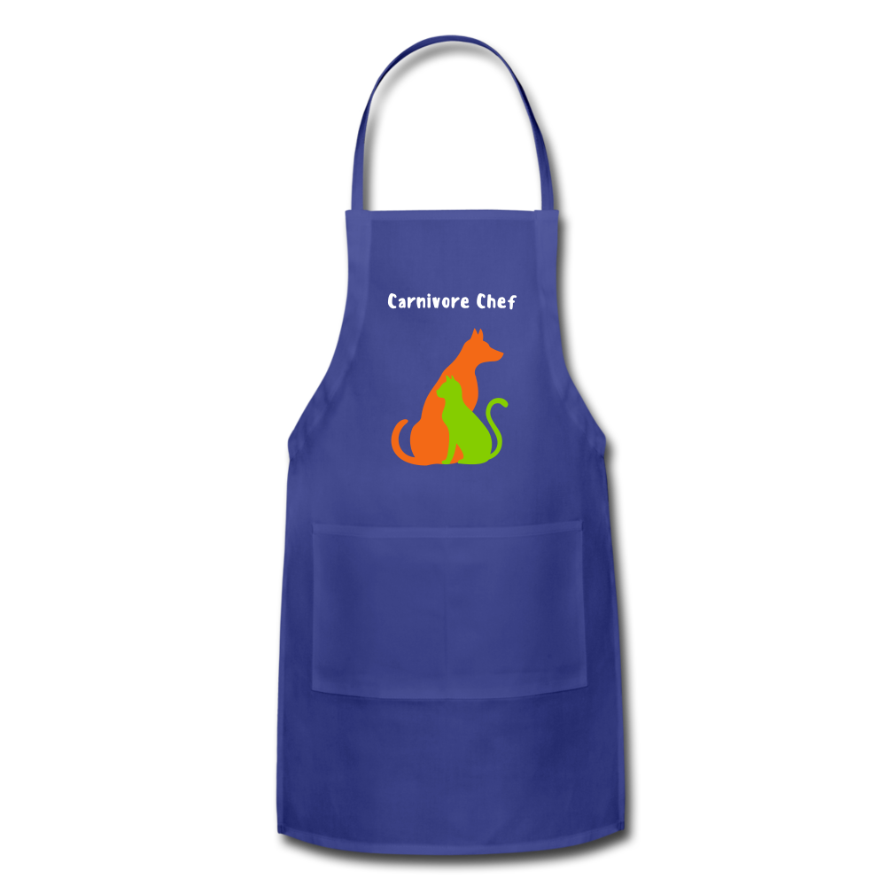 Carnivore Chef Apron - royal blue