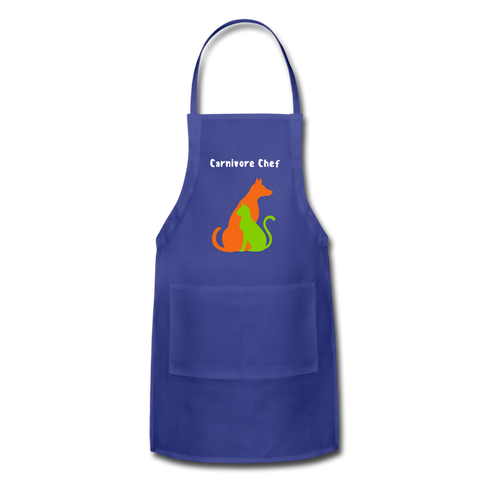 Image of Carnivore Chef Apron - royal blue