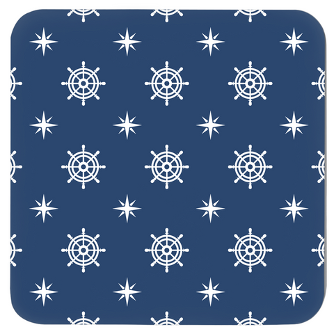 Image of Nautical Coasters - Anchor Print