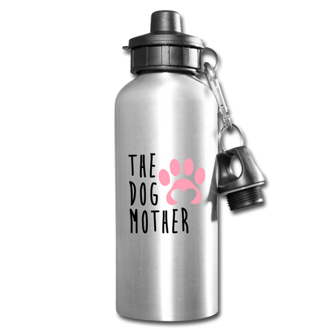 The Dog Mother Water Bottle - silver