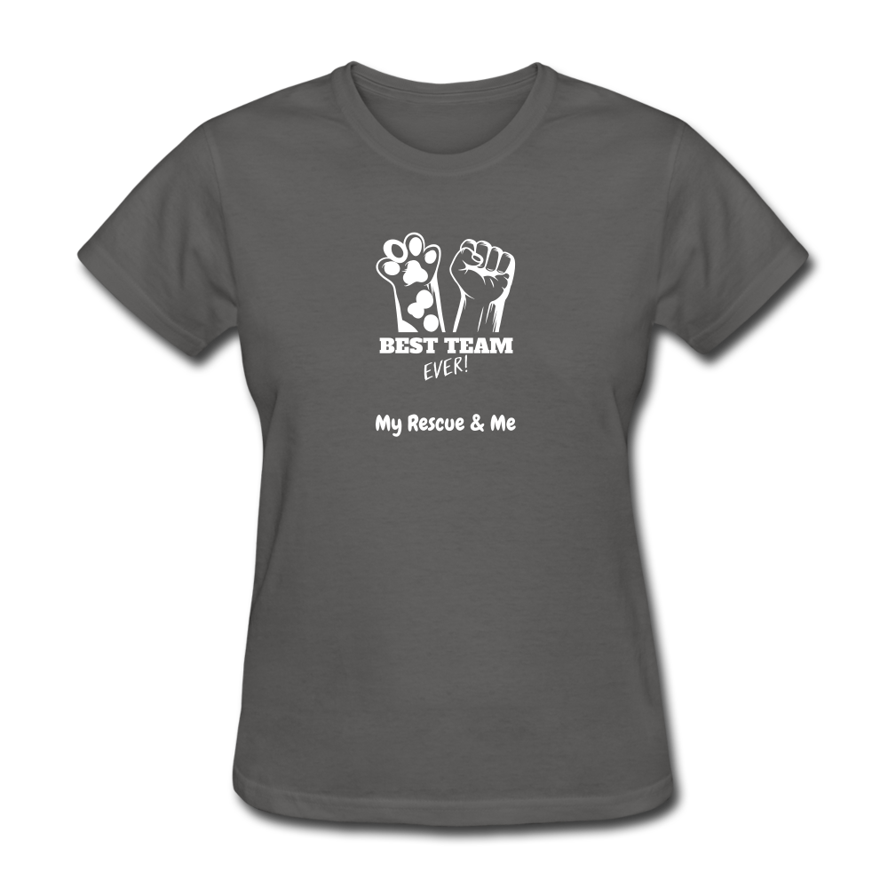 Beast Team Ever - My Rescue and Me - Women's T-Shirt - charcoal