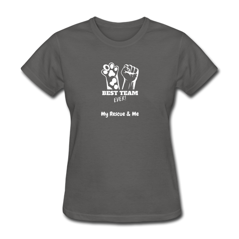 Image of Beast Team Ever - My Rescue and Me - Women's T-Shirt - charcoal