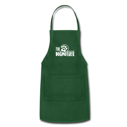 Image of The Dog Mother Apron Adjustable Apron - forest green