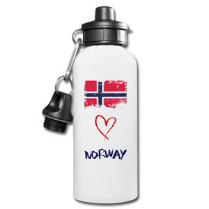 Love Norway Water Bottle - white