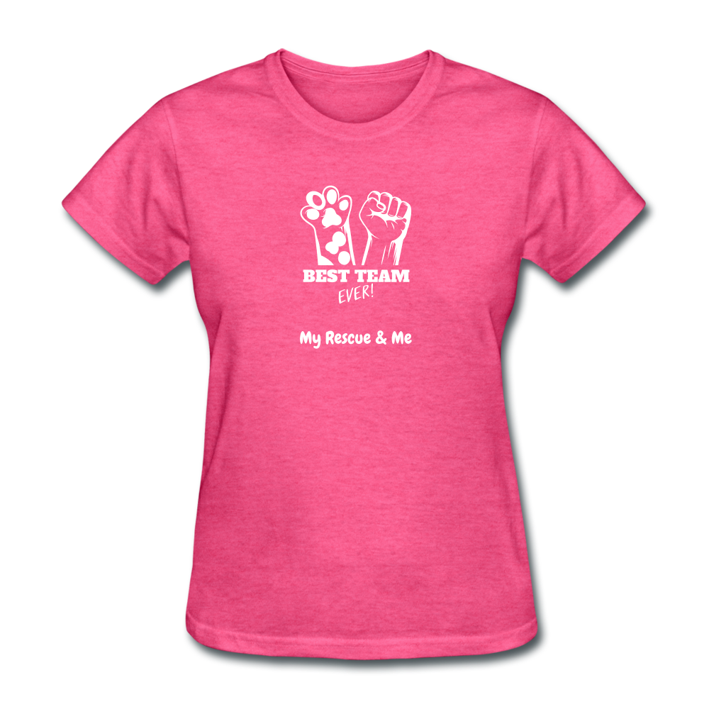 Beast Team Ever - My Rescue and Me - Women's T-Shirt - heather pink