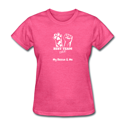 Image of Beast Team Ever - My Rescue and Me - Women's T-Shirt - heather pink