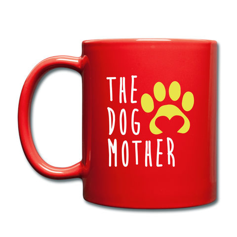 Image of The Dog Full Color Mug - red