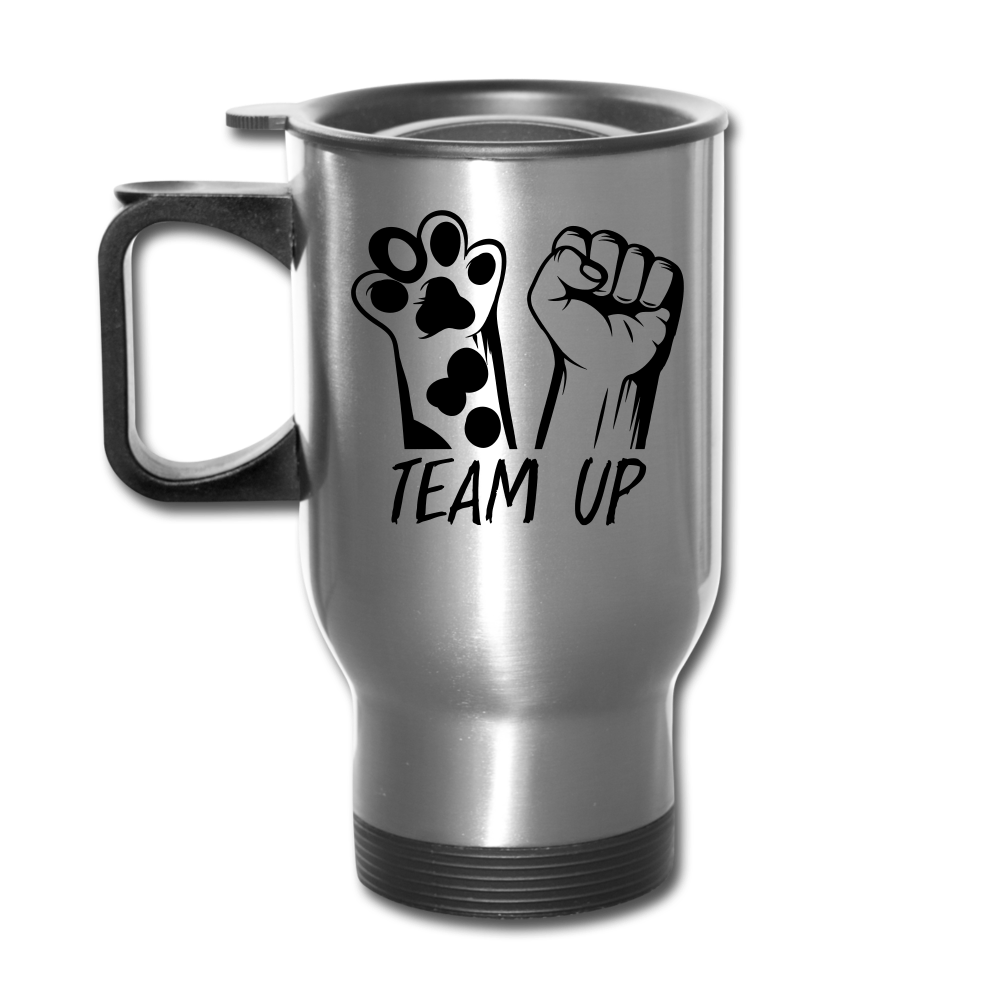 Team Up Travel Mug - silver
