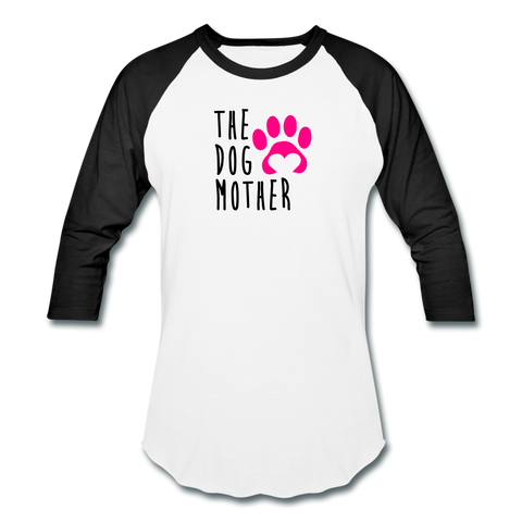 The Dog Mother - Baseball T-Shirt - white/black