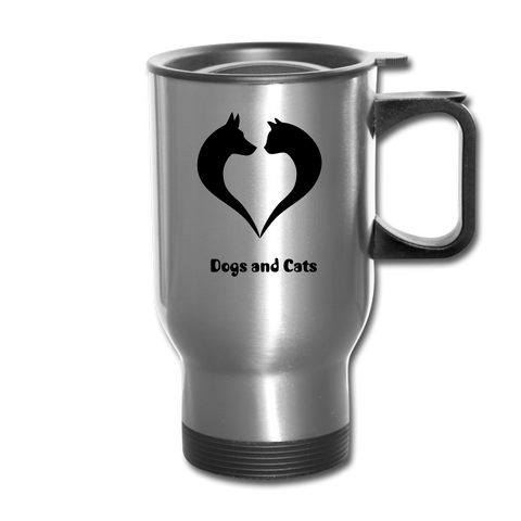 Image of I love Dogs and Cats Travel Mug - silver