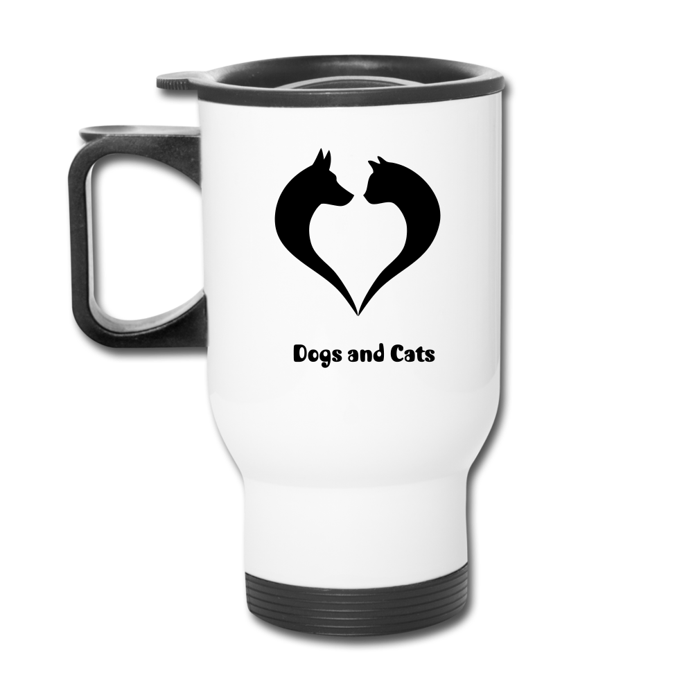 I love Dogs and Cats Travel Mug - white