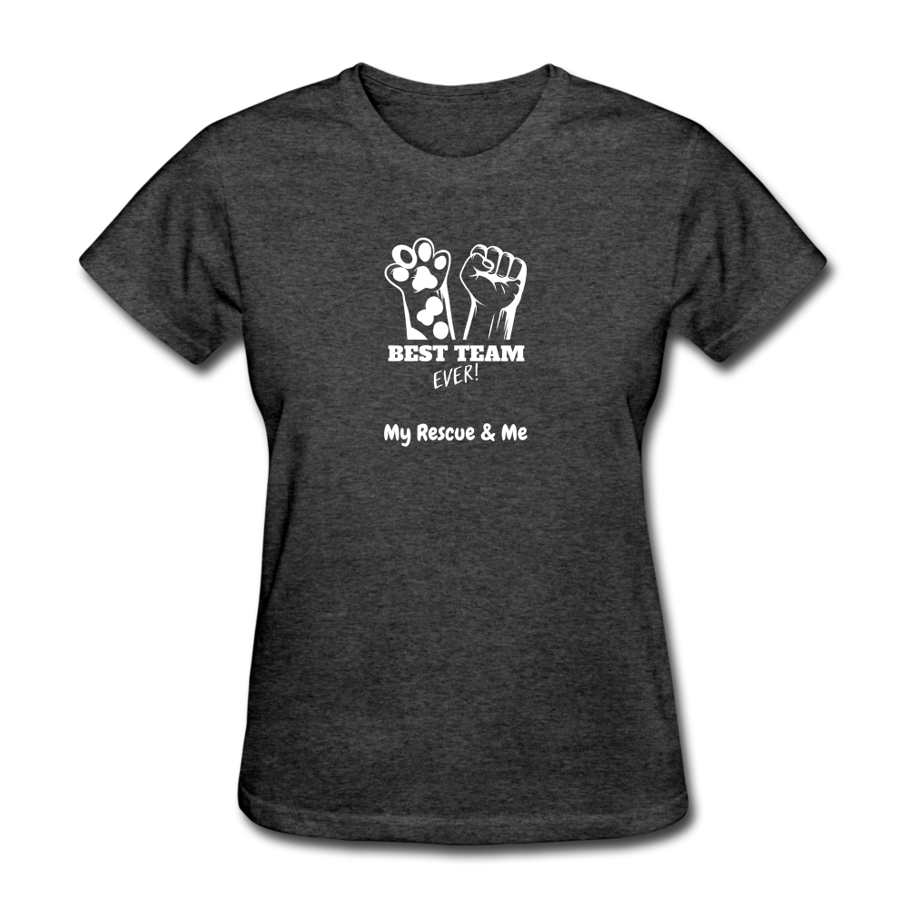 Beast Team Ever - My Rescue and Me - Women's T-Shirt - heather black