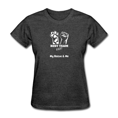 Image of Beast Team Ever - My Rescue and Me - Women's T-Shirt - heather black