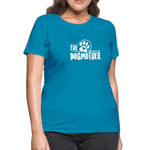 Image of The Dog Mother Women's T-Shirt - turquoise