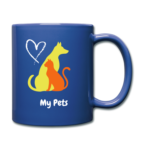 Image of I love my pets Full Color Mug - royal blue
