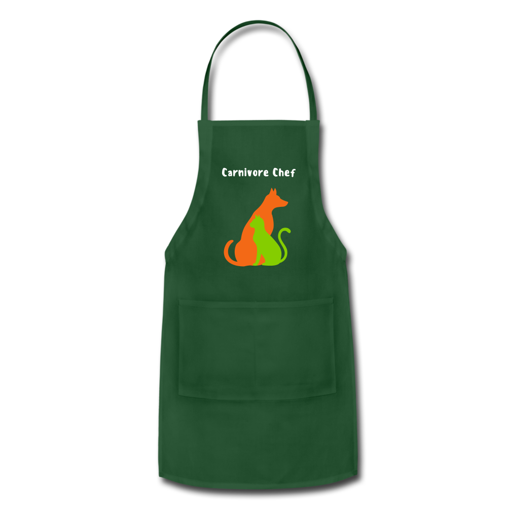 Carnivore Chef Apron - forest green