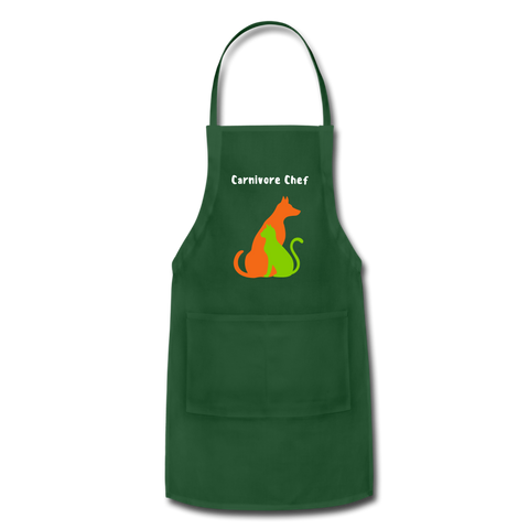 Image of Carnivore Chef Apron - forest green