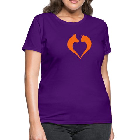 I love dogs and cats Women's T-Shirt - purple