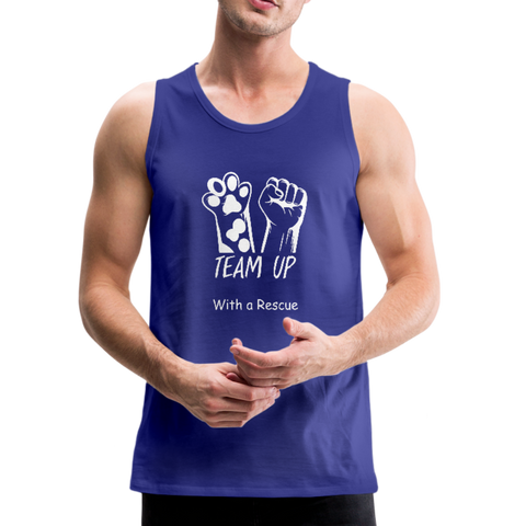 Team Up with a Rescue - Men's Premium Tank - royal blue