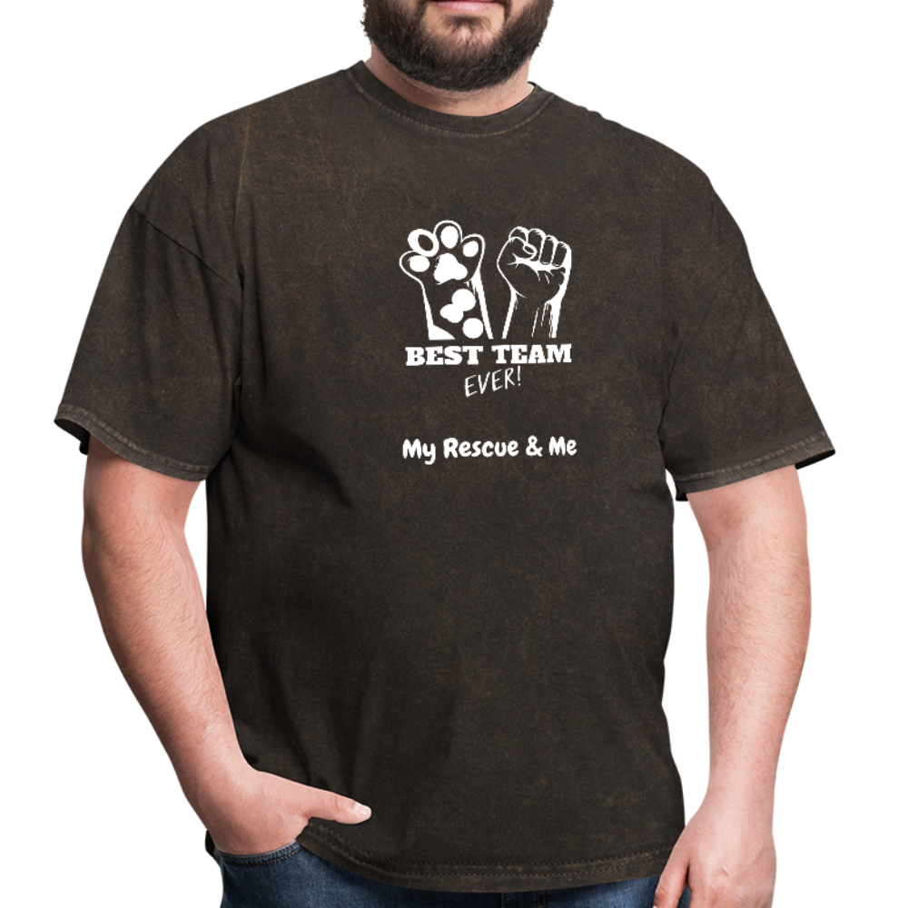 Best Team Ever My Rescue and Me - Men's T-Shirt - mineral black