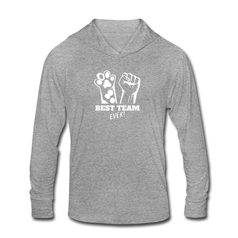 Image of Best Team Ever Unisex Tri-Blend Hoodie Shirt - heather gray
