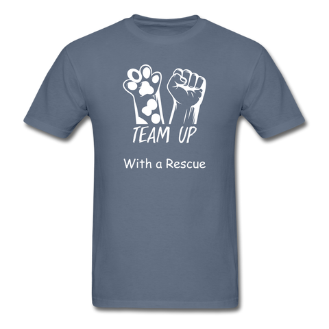 Team Up with a Rescue Men's T-Shirt - denim