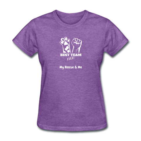 Beast Team Ever - My Rescue and Me - Women's T-Shirt - purple heather