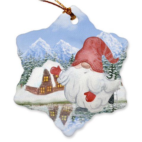 Image of Nordic Gnomes Christmas Porcelain Ornaments