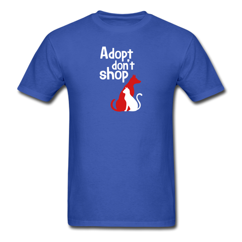 Adopt don't Shop Men's T-Shirt - royal blue