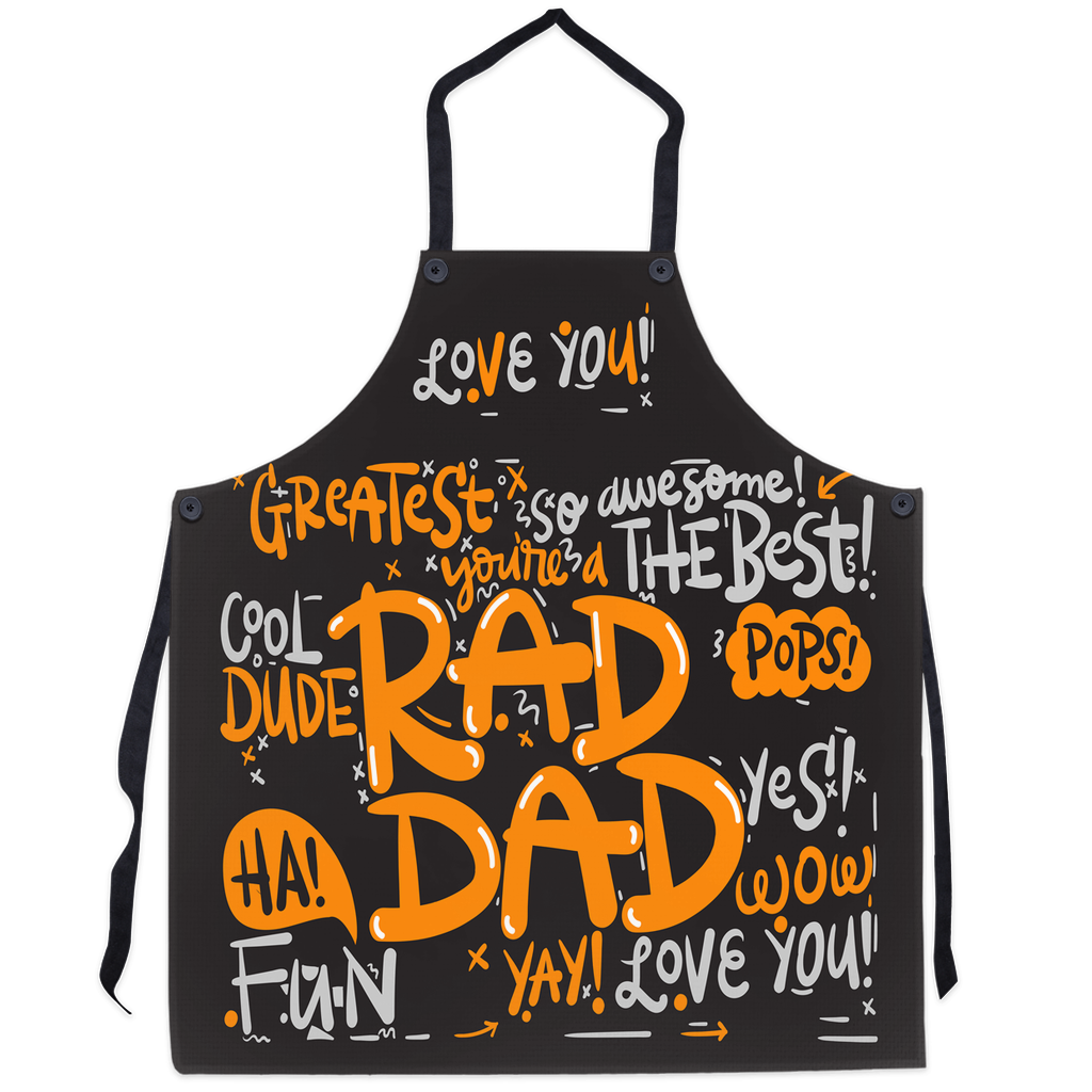 Rad Dad Apron - World's Best Dad Apron, Best Dad