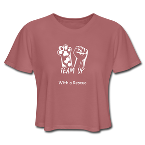 Team Up with a Rescue - Women's Cropped T-Shirt