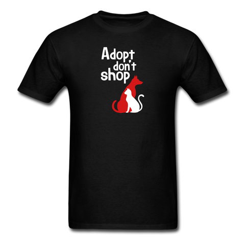 Adopt don't Shop Men's T-Shirt - black