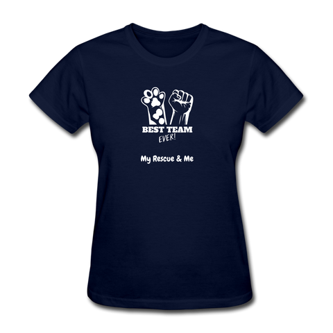 Image of Beast Team Ever - My Rescue and Me - Women's T-Shirt - navy