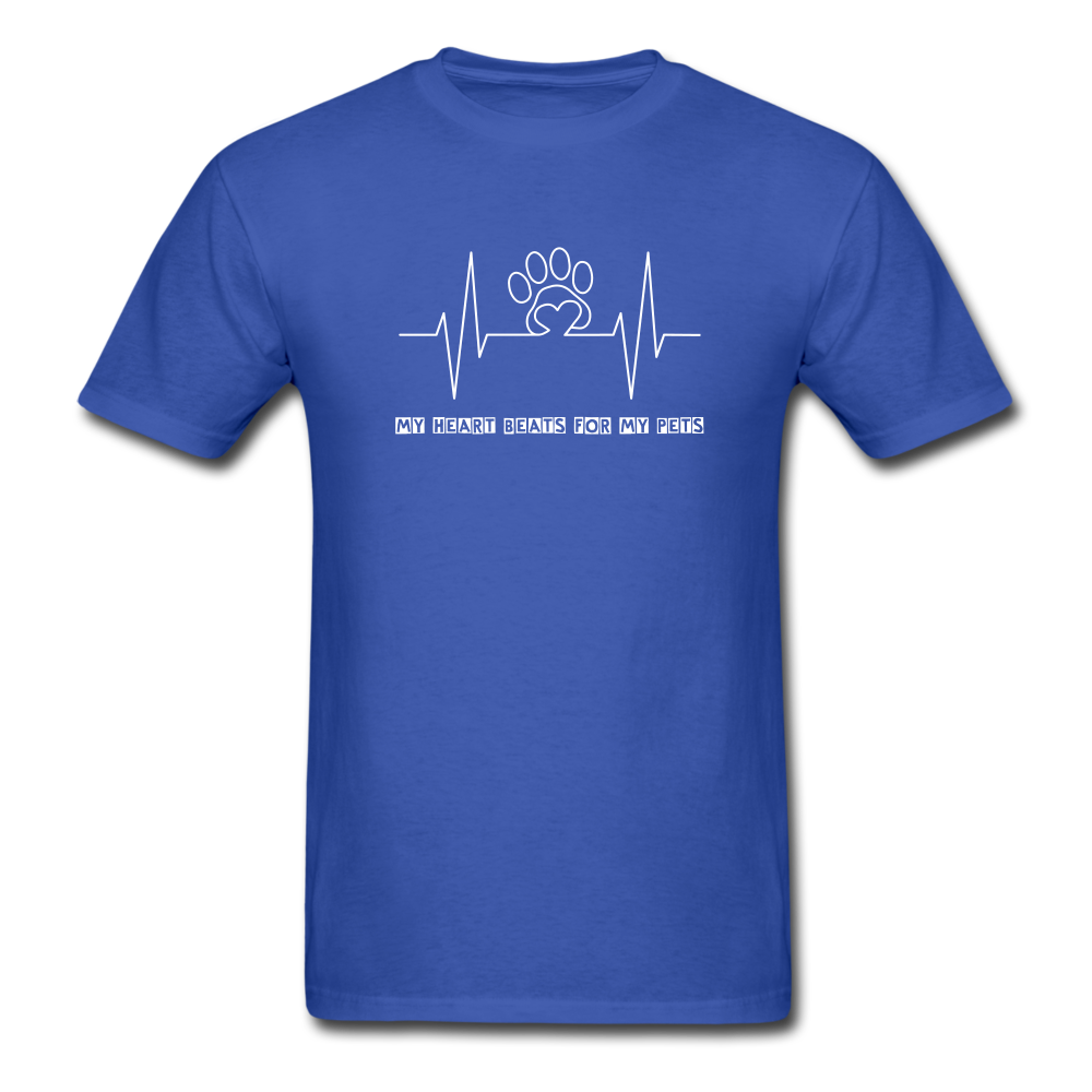 My Heart Beats for my Pets Men's T-Shirt - royal blue