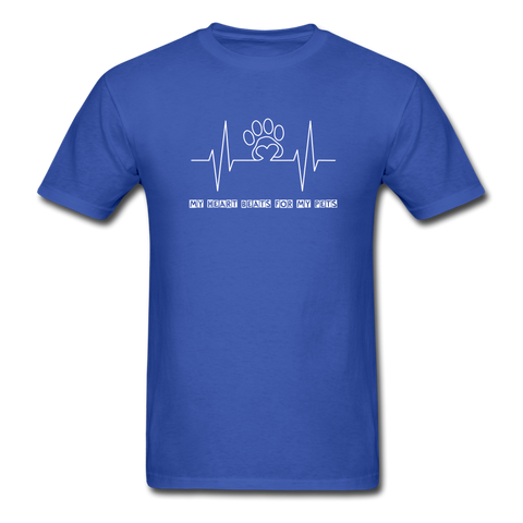 Image of My Heart Beats for my Pets Men's T-Shirt - royal blue