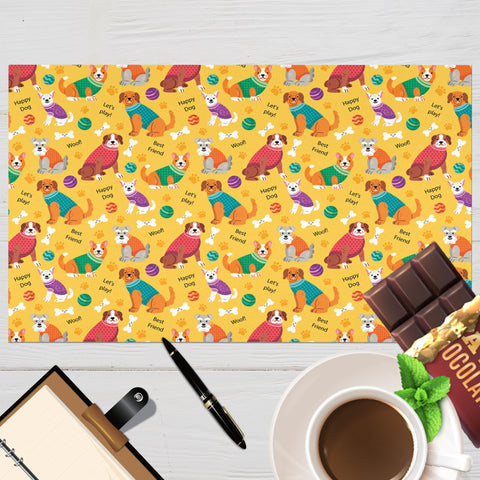 Image of Colorful Placemat for Dog Lovers