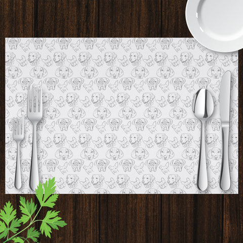 Image of Placemat with Dog Drawing Design