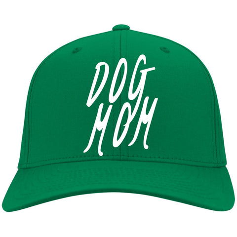 Dog Mom Cap - Port & Co. Twill Cap, 100% Colors, Available in 11 different colors! Embroidered.