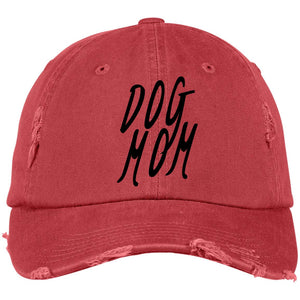 Dog Mom Cap Distressed - 100% Cotton available in different colors