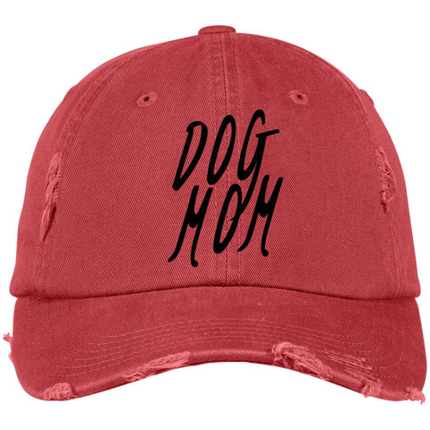 Image of Dog Mom Cap Distressed - 100% Cotton available in different colors