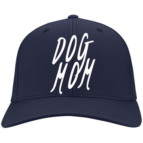 Image of Dog Mom Cap - Port & Co. Twill Cap, 100% Colors, Available in 11 different colors! Embroidered.