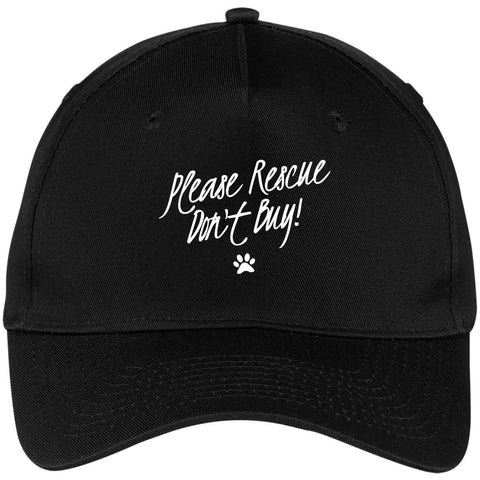Image of Please Rescue Don't Buy - Five Panel Twill Cap