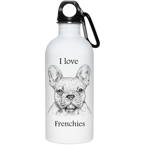I love Frenchies 20 oz. Stainless Steel Water Bottle
