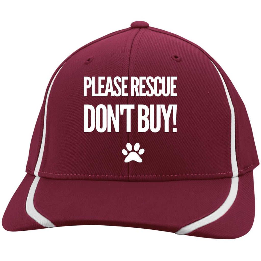 Please Rescue Don't Buy -  Sport-Tek Flexfit Colorblock Cap