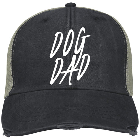 Dog Dad Adams Ollie, cotton twill sweatband, cool mesh lining, embroidery