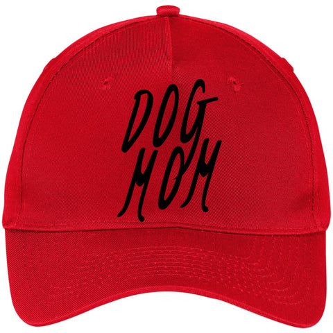 Image of Dog Mom Five Panel Twill Cap, 100% Cotton.